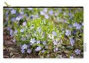 Vinca Violet Purple Clump Carry-all Pouch