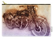 Vincent Black Shadow 2 - Standard Motorcycle - 1948 - Motorcycle Poster - Automotive Art Carry-all Pouch