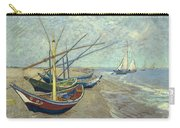 Vincent Van Gogh  Fishing Boats On The Beach At Les Saintes Maries De La Mer Carry-all Pouch