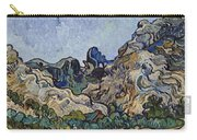 Vincent Van Gogh  Mountains At Saint Remy Carry-all Pouch