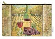 Vineyard Pinot Noir Grapes N Wine - Batik Style Carry-all Pouch