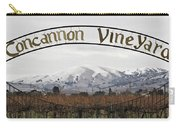 Vineyard Under Snow Carry-all Pouch