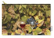 Vineyard With Red And White Wine Autumn Season Carry-all Pouch