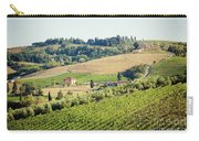 Vineyards With Stone House, Tuscany, Italy Carry-all Pouch
