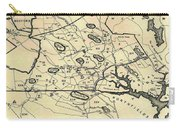 Vintage 1692 Map Of Salem Massachusetts - 1866 Carry-all Pouch
