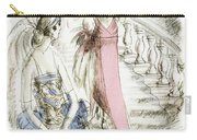 Vintage 1920s Fashion Plate  Evening Dresses Carry-all Pouch