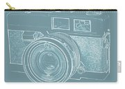 Vintage 35mm Film Camera Blue Pop Art Carry-all Pouch