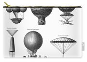 Vintage Aeronautics - Early Balloon Designs Carry-all Pouch