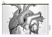 Vintage Anatomical Heart Carry-all Pouch