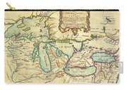 Vintage Antique Map Of The Great Lakes Carry-all Pouch
