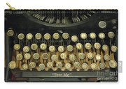 Vintage Antique Typewriter - Text Me - Antique Typewriter Keys Print Black And Gold Carry-all Pouch