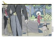 Vintage Art Deco Fashion Print Depicting A Man In Morning Dress Carry-all Pouch