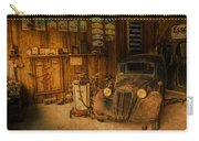 Vintage Auto Repair Garage With Truck And Signs Carry-all Pouch