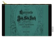 Vintage Bach Piano Book Cover Carry-all Pouch