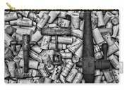 Vintage Barrel Taps And Cork Screw Black And White Carry-all Pouch