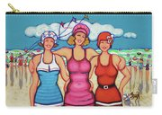 Vintage Beach Scene - Holiday At The Seashore Carry-all Pouch