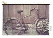 Vintage Bicycle Carry-all Pouch by Jane Linders