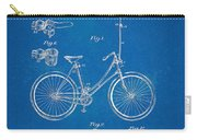 Vintage Bicycle Parasol Patent Artwork 1896 Carry-all Pouch