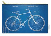 Vintage Bicycle Patent Artwork 1894 Carry-all Pouch by Nikki Marie Smith