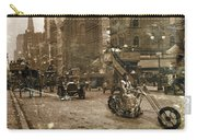Vintage Bike Lady Carry-all Pouch