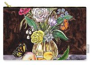 Vintage Bouquet With Fruits And Butterfly  Carry-all Pouch