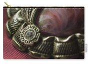 Vintage Brooch With Red Gem Carry-all Pouch