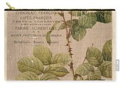 Vintage Burlap Floral 4 Carry-all Pouch by Debbie DeWitt