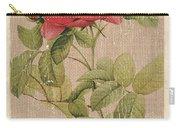 Vintage Burlap Floral Carry-all Pouch