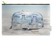 Vintage Camping Trailer In The Clouds Carry-all Pouch