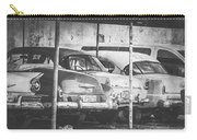 Vintage Cars At Night Bw Carry-all Pouch