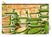 Vintage Cellar Tea Cups Painterly Carry-all Pouch