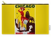 Vintage Chicago Travel Poster Carry-all Pouch