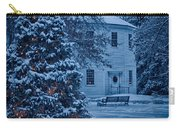 Vintage Christmas Church In Vermont Carry-all Pouch