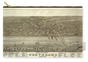 Vintage Cleveland Ohio Map Carry-all Pouch