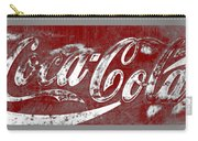 Coca Cola Red And White Sign Gray Border With Transparent Background Carry-all Pouch