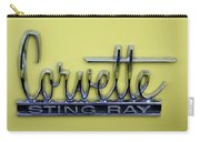 Vintage Corvette Sting Ray Emblem Carry-all Pouch