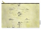 Vintage Croquet Patent Carry-all Pouch