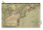 Vintage Discovery Map Of The Americas - 1771 Carry-all Pouch