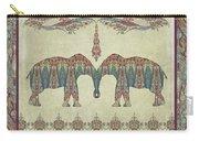 Vintage Elephants Kashmir Paisley Shawl Pattern Artwork Carry-all Pouch
