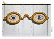 Vintage Eye Sign On Wooden Wall Carry-all Pouch
