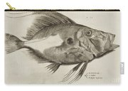 Vintage Fish Print Carry-all Pouch