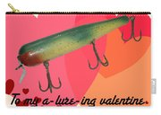 Vintage Fishing Lure Valentine Card Carry-all Pouch