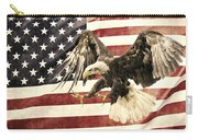 Vintage Flag With Eagle Carry-all Pouch