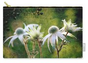 Vintage Flannel Flowers Carry-all Pouch