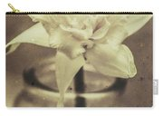 Vintage Floral Still Life Of A Pure White Bloom Carry-all Pouch