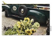 Vintage Flower Truck-nantucket Carry-all Pouch by Tammy Wetzel