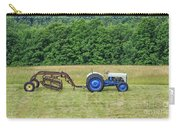 Vintage Ford Blue And White Tractor On A Farm Carry-all Pouch
