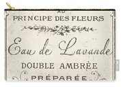 Vintage French Perfume Sign Carry-all Pouch