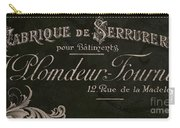 Vintage French Typography Sign Carry-all Pouch