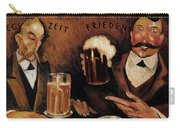 Vintage German Beer Advertisement, Friends Drinking Bier Carry-all Pouch